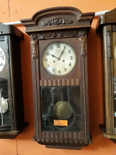 Zegar gabinetowy sprawny, z wahadłem, nakręcany kluczem, marki HAU