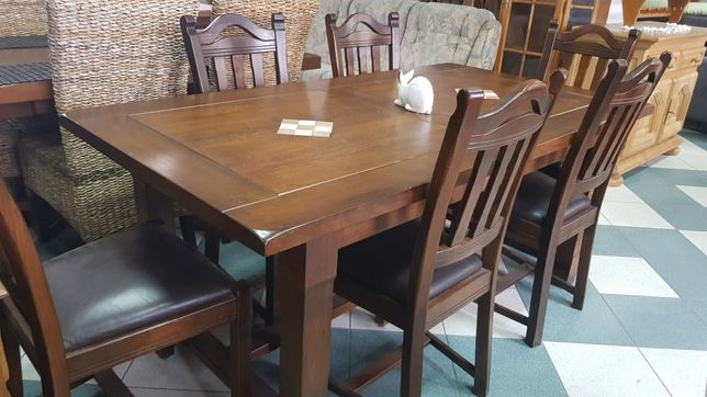 100% dąb  KLOSE stół z 6 krzesłami