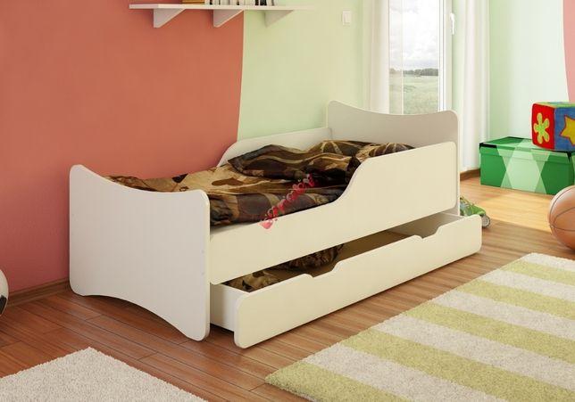 Łóżko/łóżeczko białe 80x180 BEZ SZUFLADY