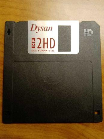 """Dyskietki Dysan 3.5"""" 2 HD 7 szt. nowe"""