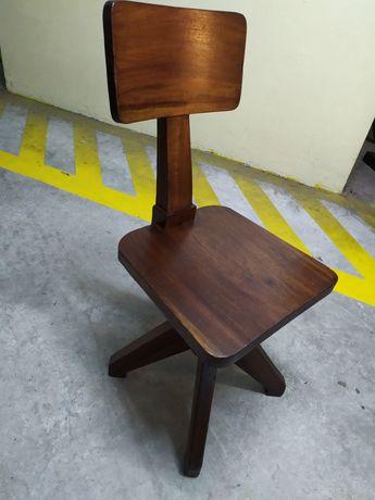 Cadeira madeira giratória/rotativa anos 50