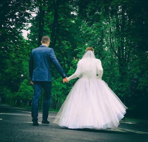 Suknia ślubna rozmiar 38 40 Ecru Ivory tiul + satyna Princessa