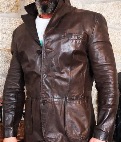 Casaco Blazer de couro zara