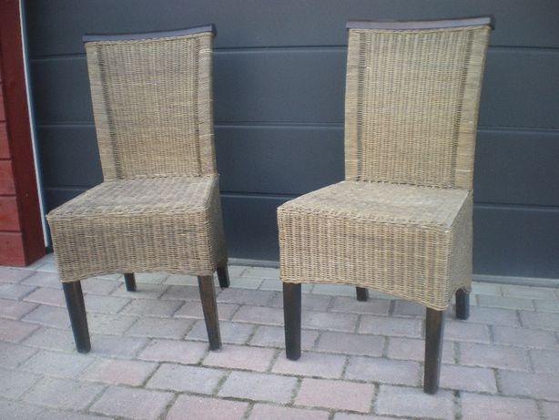 krzesła wiklina 2szt.