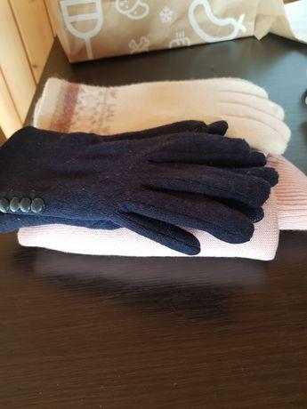 Sweter i rękawiczki wełniane