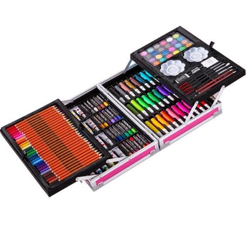 Набор для рисования и творчества Единорог 145 предметов Голубой/Розов