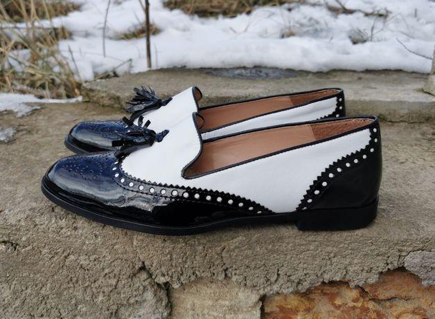 Кожаные лоферы туфли балетки оксфорды Zign 38 р. Оригинал