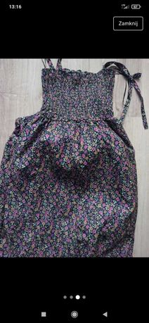 Kombinezon kwiatowy stroj spodnie bluzka s ginatricot