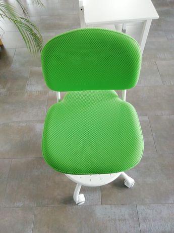 Krzesło dla dziecka do biurka zielone IKEA Vimund