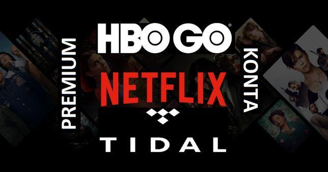 NETFLIX ··· TIDAL HIFI (vidal) ··· HBO GO ··· Pełne konta GWARANCJA