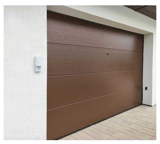 Brama garażowa segmentowa 3000x2250 brąz Czyste powietrze