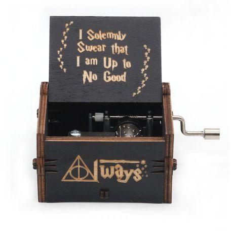 Музыкальная шкатулка деревянная с мелодией Гарри Поттер