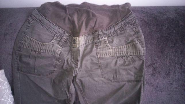 H&M mama oliwkowe spodnie ciążowe 40(L)