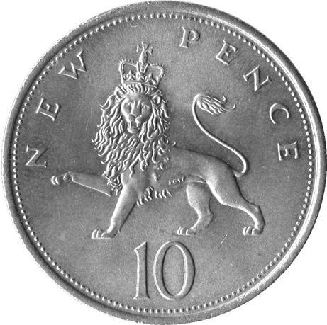 10 новых пенсов 1974 год