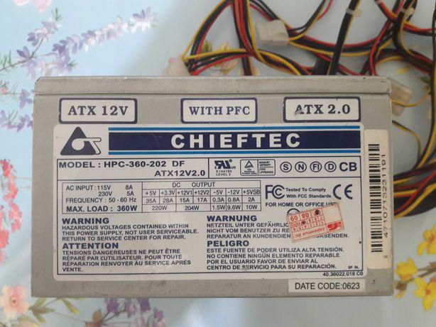 Блок питания 360W Chieftec HPC-360-202 DF, 2x80мм