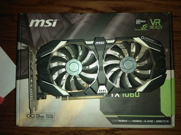 MSI GTX 1060 3gb (продано)