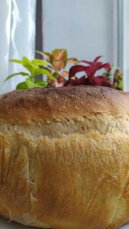 Выпечка бездрожжевого белого хлеба на домашней закваске под заказ.