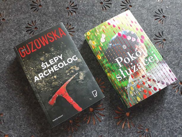 """Książki komplet """"Ślepy archeolog"""" Guzowska, """"Pokój służącej"""" Mitchell"""