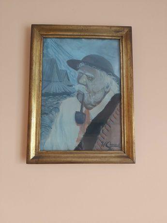 Obraz Góral z fajką 1941 rok