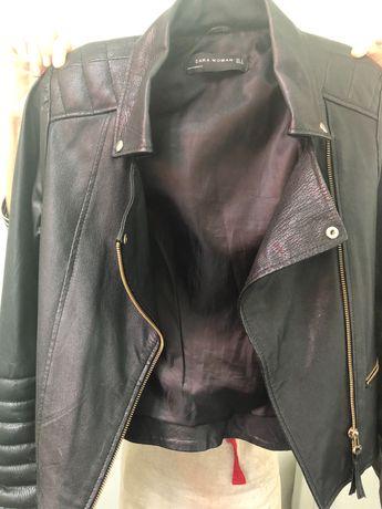 Casaco motard pele preto