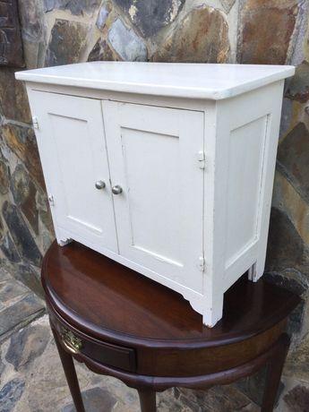 Móvel Alentejano branco Madeira maciça Antigo 57 cm