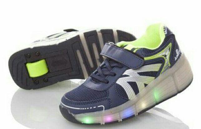 Светящиеся кроссовки ролики на колесиках Heelys хилисы р. 30-36
