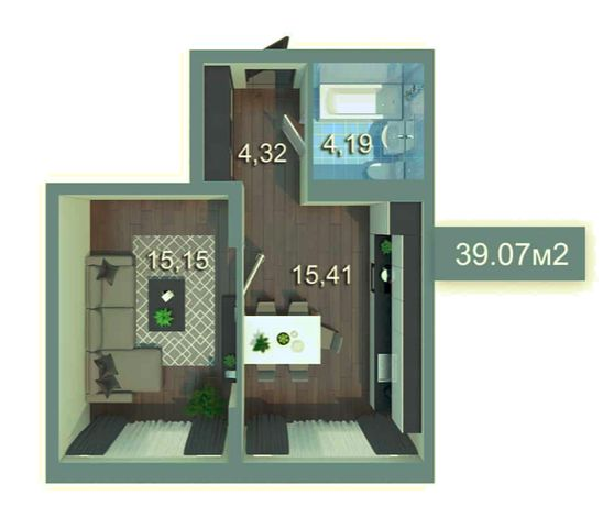 Квартира 39м2 -Дарница , КомфортТаун скидка при полной оплате