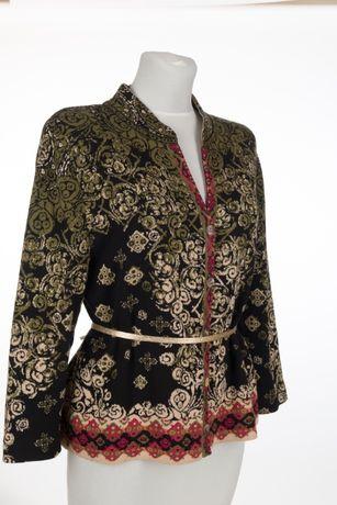 IVKO marynarka designerski sweter M-L modne kolory