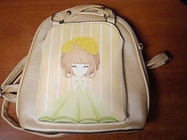 рюкзак детский, золотого цвета