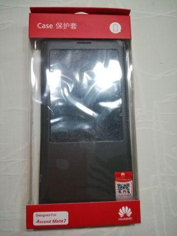 """Huawei """"Mate 7"""" Смарт-чехол Оригинал + бонус Защитное стекло"""