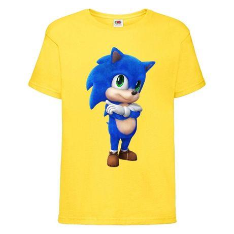 Футболки с принтом Sonic. Футболка на подарок