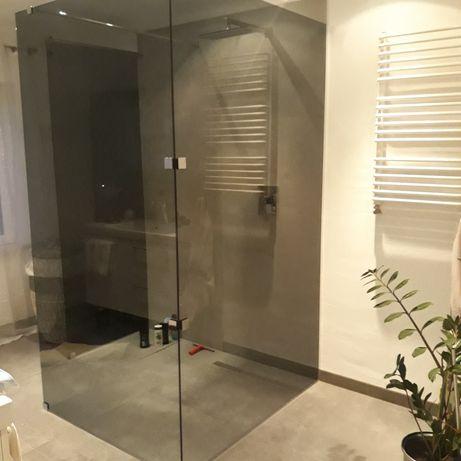 Kabina prysznicowa,hartowana szyba do kabiny w kolorze grafitowym