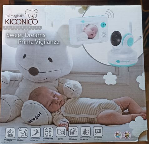 Câmera de Vigilancia Bebé Kiconico sem fios, a cores