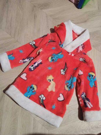 Детское теплое платье туника