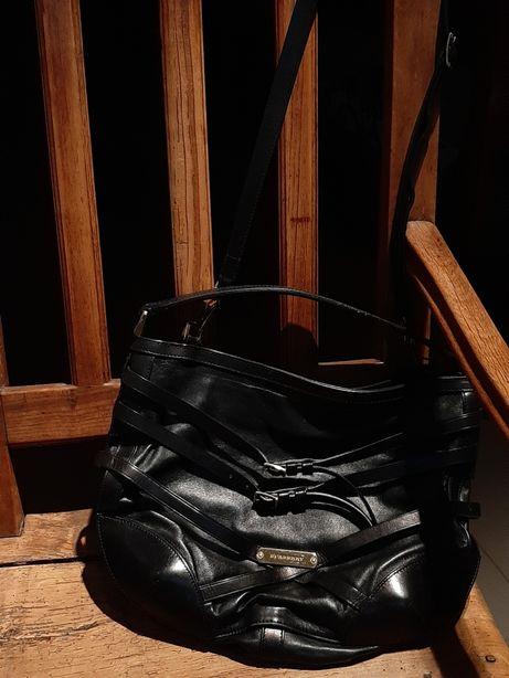 Burberry Black Briddle czarna klasyczna torba