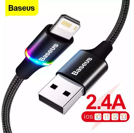 Kabel USB Baseus typ iPhone LED (Apple) 210cm