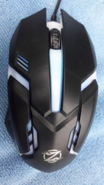Геймерская мышь USB Zornwee GM02 Black с подсветкой Новая