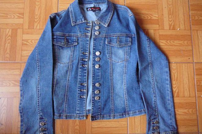 bluza kurtka jeansowa damska r. M, L