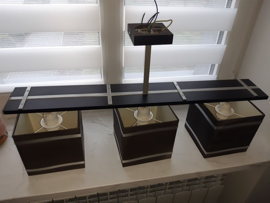 Lampa wisząca 3 punkty oraz dwie lampki stojące Luminex Markus Łowicz - image 1