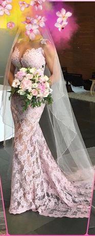 Vestido de noiva EXCLUSIVO Micaela Oliveira c/ cristais swarovski