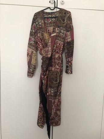 Vestido franjas Zara