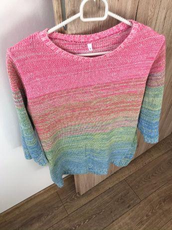 Sweter tęczowy rękaw 3/4 rozmiar S