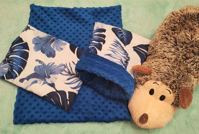 Norka, domek, kocyk, poduszka dla jeża , jeż pigmejski, niebieski-liść