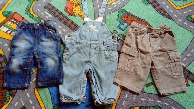 Ogrodniczki rozm. 68, wygodne jeansy i sztruksy. Jak HM.