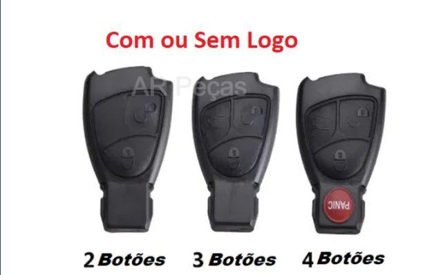 Capa carcaça de chave Mercedes 3 botoes W203 W211 w204 Novas