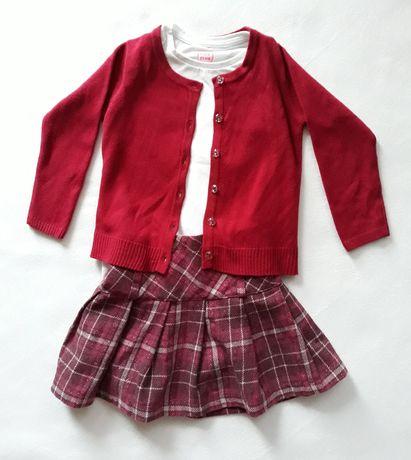 Wizytowy sweter, bluzka, spódnica 98-104, CoolClub, Young Dimension