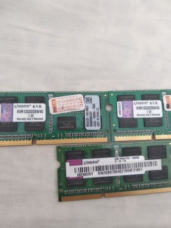 Оперативка kingston 2x4gb и 1х2