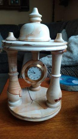 Zegar kominkowy stojący kamienny marmurowy