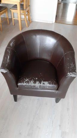 Fotel kubełkowy do odrestaurowania