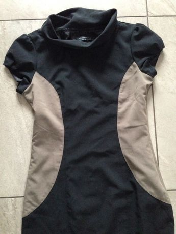 Sukienka czarna kawa z mlekiem M 38 Zara